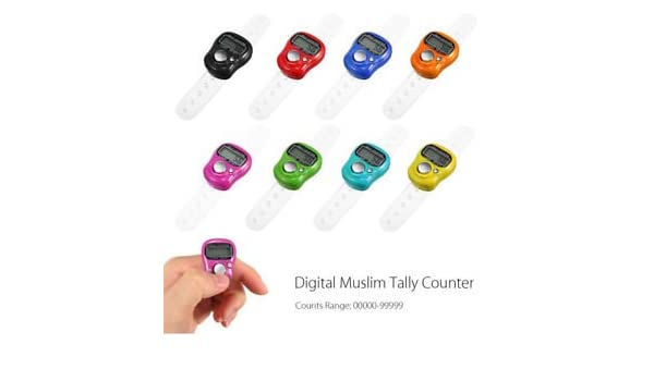 5 digits LED muslim tally counter finger ring hand tally counter digital Timers