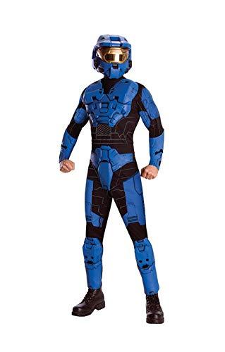 Blue Spartan Deluxe Anzug - Blue Spartan Kostüm