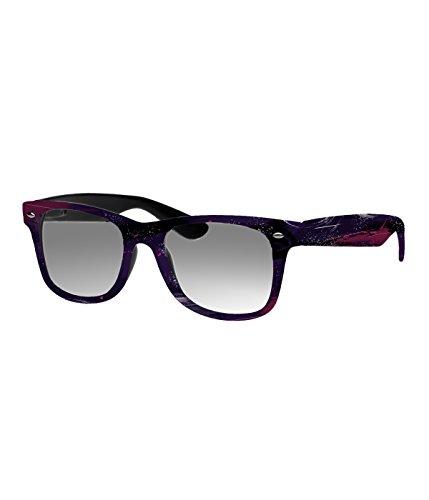 Rockacoca Unisex (Damen Herren) Sonnenbrille mit Design UV400 - Unisex sunglasses with Handpainted Cosmic Design