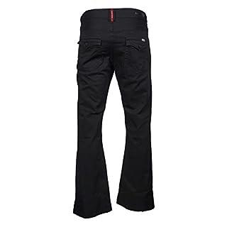 APT Mens Designer Bootcut Black Flared Wide Leg Denim A43 Jeans