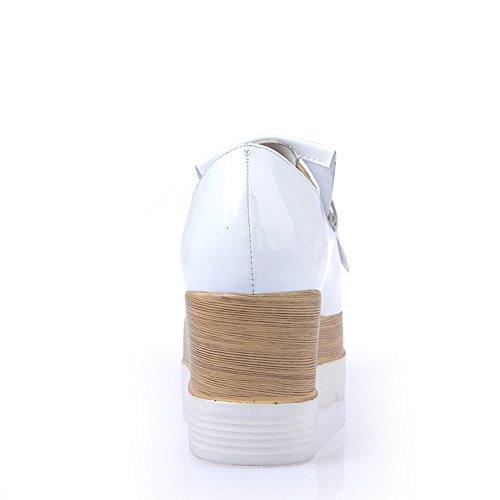 Adee Mesdames Fashion PU Pompes Chaussures Blanc - blanc
