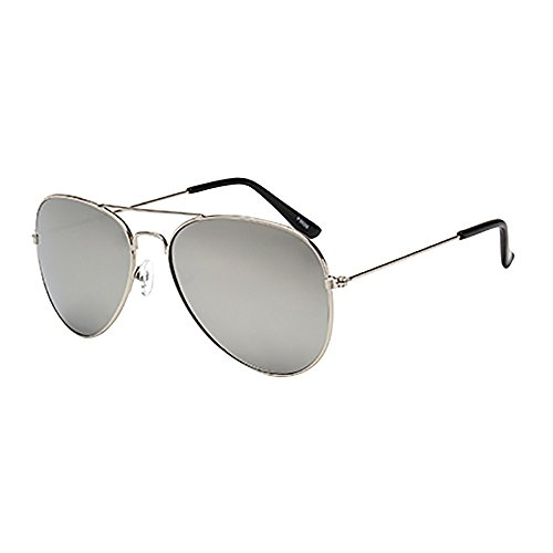 YEARNLY Mode Metallrahmen Verspiegelt Linse Herren Damen Sonnenbrille mit Frühlings Scharnieren