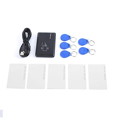 Preisvergleich Produktbild USB 125Khz RFID EM4305 T5567 Card Reader Programmer Burner + 5 ID Key Buckles + 5 ID Cards