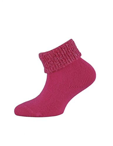 3 Pairs of Girls Chunky Roll Top Socks - UK Made - Top Quality