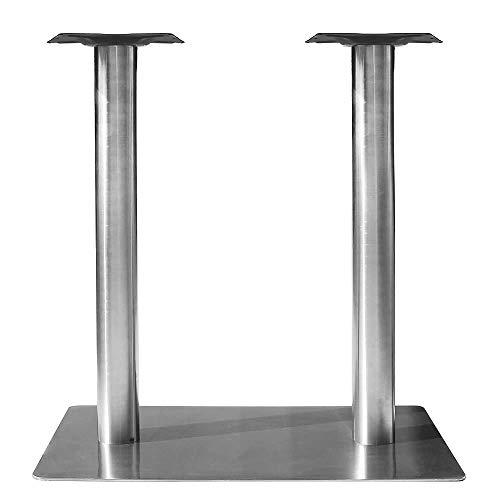 Melko Tischuntergestell Doppeltischsäule Möbelfuß aus Edelstahl, ca. 70 x 40 x 72 cm - kann mit einer Tischplatte Ihrer Wahl kombiniert werden