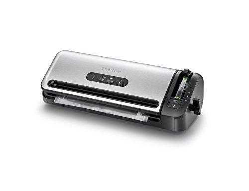 Foodsaver FFS017X-01 - Envasadora al vacío, porta-rollos, cutter y adaptador para envases integrados
