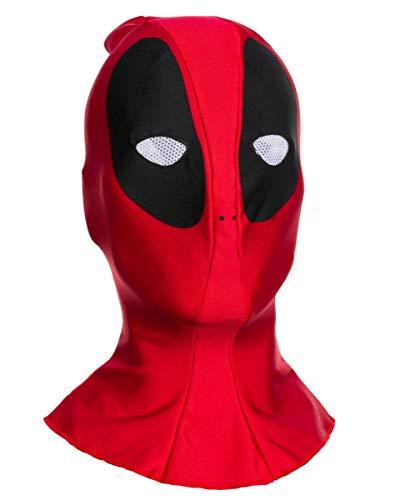 Deadpool Vollkopf Stoffmaske für Fasching & Halloween