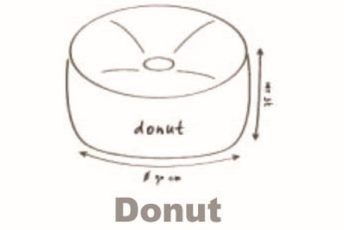 "Outbag Sitzsack ""Donut plus"" - Sitzsack/ Sitzkissen/ Sitz-Cube/ Lounge - Outdoor-geeignet in orange"