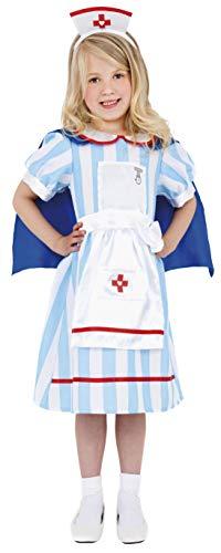 Kostüm Krankenschwester Kleid Up - Smiffys Kinder Traditionelle Schwester Kostüm, Kleid mit Umhang und Haube, Größe: S, 38646