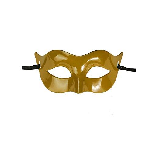 ODJOY-FAN 1 PC Grenzenlos Einfarbig Maske, Klassisch Masken Maskerade Hälfte Gesicht Maske für Party Kostüm Ball (Gold,1 PC)
