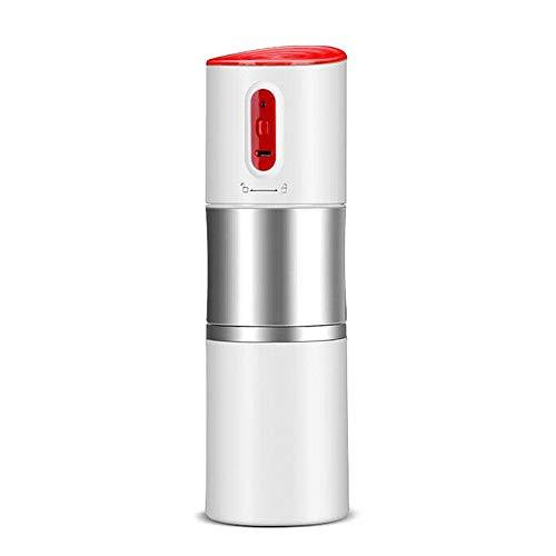 Jerome10Dan Máquina de café portátil, Mini máquina de café Recargable Máquina de café aislada eléctrica portátil de café Express con Filtro para el Coche, hogar, Oficina y Viaje 250 ML