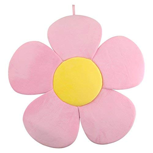 Baby Bath Support Lounger,Kakiblin Flower Baby Bath Comfort Baby Bath Pad for 0-6 Months, Pink