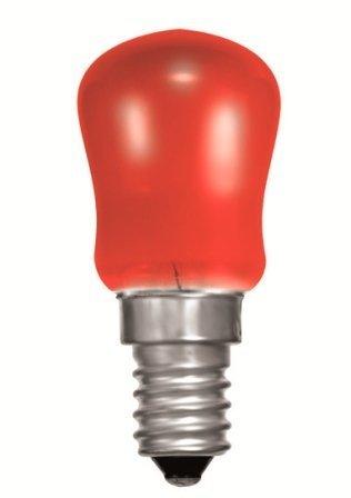 Crompton 15W Pygmy (SES/E14) Kleiner Edison Schraubsockel - Rot gefärbte Glühbirne - Edison-schraubsockel