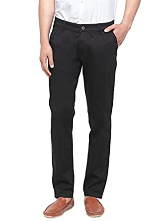 Ben Martin Men's Chino Regular Fit Trousers (BM-TRS-BLACK-28)