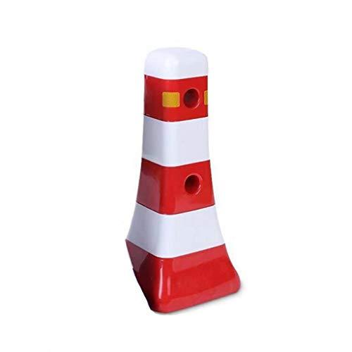 YC electronics Warnkegel Isoliert Pier Water Horse Leitplanke Road Leitplanke Isolation Eva Kollision Road Cone Square Cone leitkegel (Color : Red, Größe : 80cm) (Kleine Safety Cones)