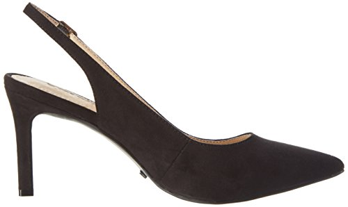 Buffalo Damen H733c-117 S0003a Imi Suede Pumps Schwarz (Black 01)