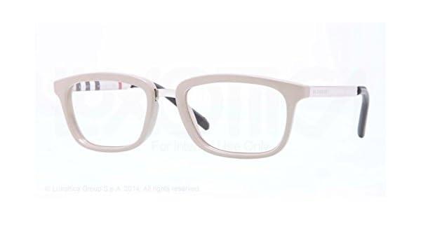 6f4434cf4e21 BURBERRY BE 2160Q Eyeglasses 3450 Beige 53-18-140: Amazon.co.uk: Clothing