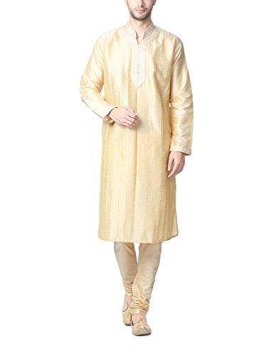 Peter England Men's Kurta Pyjama (8903988059218_POFL5120024_Ivory_40)