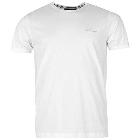 Pierre Cardin Herren Plain T-Shirt Kurzarm Rundhals Tee Top Bekleidung Weiss XXXL
