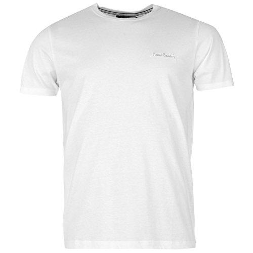 pierre-cardin-herren-plain-t-shirt-kurzarm-rundhals-tee-top-bekleidung-weiss-xl