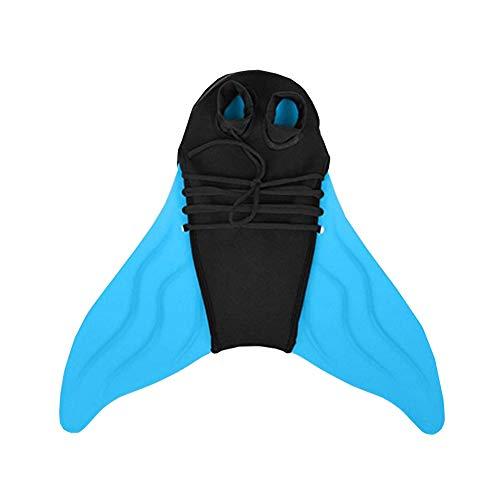1 pc Regolabile Swim Fin Formazione Monopinna addestramento subacqueo Pinna per Il Nuoto del Piede Flipper con Cinturino Diving Adulti Nuoto Accessori (Blu)