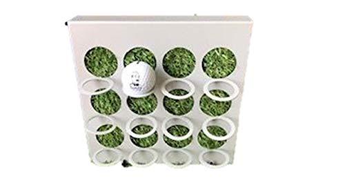 James Premium Golf-Ball Vitrine Metallrahmen grau mit mit Kunstrasen 12 Golfbälle zum Stellen und hängen - Golf-ball Vitrine
