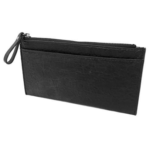 Französisch Geldbörse Damen Brieftasche (Angkorly - Kleine Lederwaren Geldbörsen Brieftasche Geldbörse Münzbörsen Schultertaschen mattes Leder basic nüchtern praktisch handlich Flexible für jeden Tag - Geschenkidee 19023 BLACK)