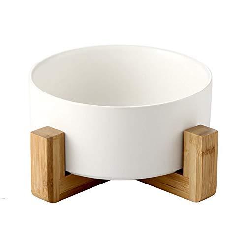 Pet Cat Bowl Hundenäpfe Anti-Rutsch-Keramik-Wassernapf für kleine Hunde Katzen (Farbe : Weiß, größe : 16 * 9cm) -