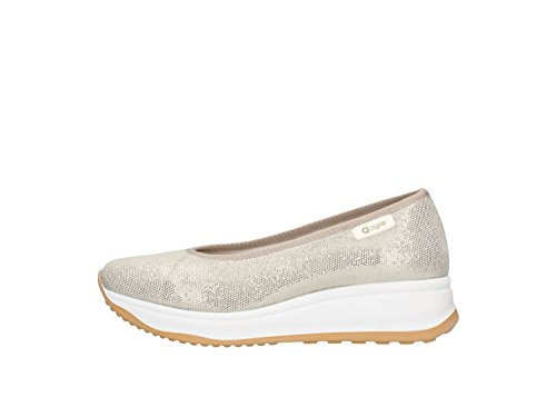 Agile By Rucoline 136 Ballerine Femme Platine 38½