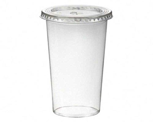 her inkl. Deckel mit Schlitz 500 ml, Ø 95mm, PET, glasklar / PET Becher sind glasklare und bruchfeste Becher für Getränke, Desserts, Smoothies etc . Im Vergleich zu herkömmlichen Bechern sind PET-Becher deutlich stärker und robuster. Inkl. Deckel mit Kreuzschlitz. ()