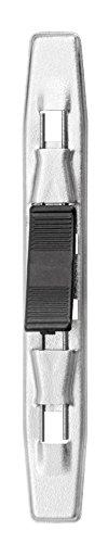 Veloflex 2904100 Niederhalter Metall, mit Plastiktippklemme, Tippklemmer, Tippklemme, für Ordner, 50er Packung