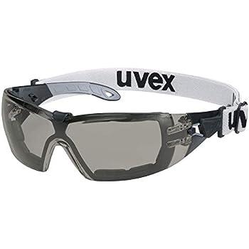 NF EN 166 170 Protezione UV 400 Lente Interna con Funzione Antiappannante Permanente Occhiali a Mascherina uvex ultravision Ultraleggeri Lenti PC Incolore Lente Esterna Antigraffio