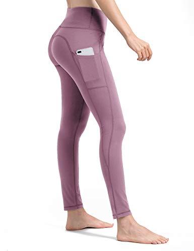 ALONG FIT Leggings Damen Pink Leggings Damen mit Taschen, Yogahosen für Damen (Xxl-rosa-yoga-hosen Für Frauen)