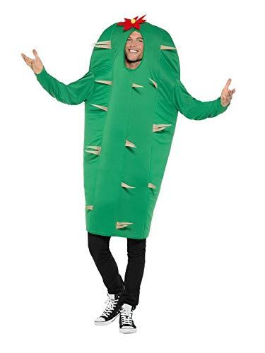 Fancy Ole - Herren Männer Männer Wüsten Kaktus Kostüm MKT Einteiler Overall, perfekt für Karneval, Fasching und Fastnacht, One Size, Grün