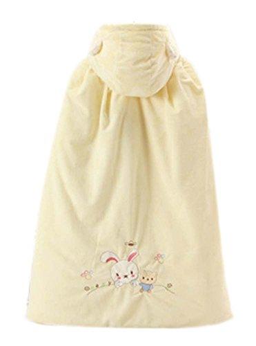 Baby-Mantel-Fall-Winter-Fonds starke warme Baumwolle Schal Kaninchen-Muster Gelb