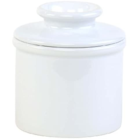 Butter Bell-Giara in grés per caffè e/o burro Classic, colore: bianco - Water Crock