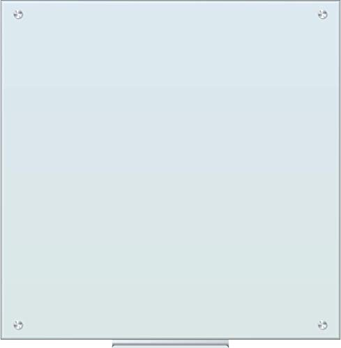 U Brands Glass Dry Erase Board, 35 x 35 Inches, White Frosted Surface, Frameless (2795U00-01)
