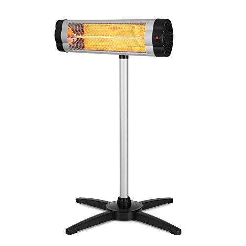 Blumfeldt Rising Sun • Infrarot-Heizstrahler • Carbon-Heizelement • gezielte Wärmeabgabe • Höhenverstellbarkeit von 70 cm • Stativ-Standfuß • 850 / 1650 / 2500 Watt Leistung • Abschalt-Timer bis 24 St. • LED-Anzeige am Gerät • Fernbedienung • Aluminium - 8