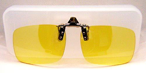 BlueCat Screen Aufsatz-Clip Blaulichtfiler Brille|Brillenclip Blueblocker-Brille|Anti-Blaulicht | Computerbrille Größe L