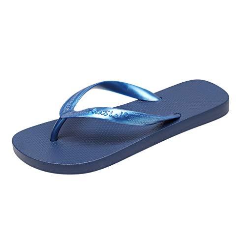 COCOCO Mode Unisex Sommer Paar Hausschuhe rutschfeste Flip Flops Klippzehe Flache Unterseite Strand Hausschuhe