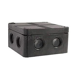 IP66 Black Weatherproof Outdoor / External Junction Box Complete With Connector