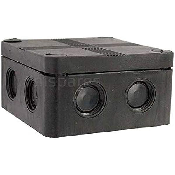 Ip66 Black Weatherproof Outdoor External Junction Box Complete With Connector Amazon Co Uk Garden Outdoors