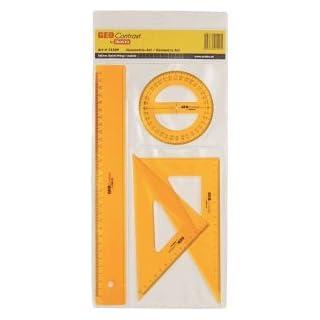 Aristo 20 x Geometrie-Set Geocontrast 4-teilig transparent gelb
