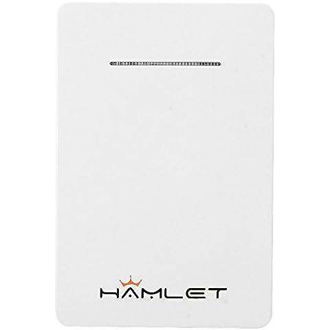 Hamlet idualsim Mini multifunzione 4in 1Bluetooth 4.0Dual SIM Card Adattatore per iphone6s Pluss Bluetooth Autoscatto e di emergenza Power Bank Cell Phone Antifurto Dispositivo bianco
