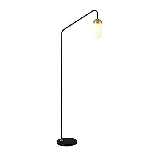 Lámpara de pie de Arco de Metal, Pantalla de Cristal, lámpara de ...