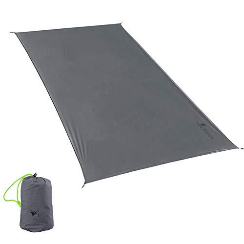 GEERTOP Schutzplane Zeltplanen Zeltunterlage Wasserdicht 1-4 Personen 20D Leichte Wasserdicht für Zelt Wanderungen Camping Picknick