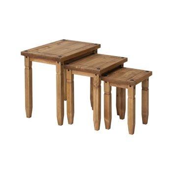 corona-mexican-pine-lot-de-3-tables-gigognes