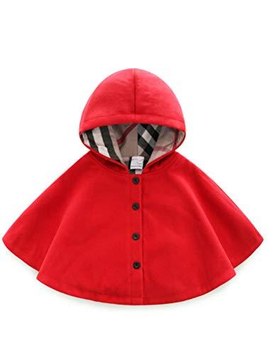 ARAUS Jacke Baby Mädchen Kindkleidung Jungen Unisex Cloak Umhang Mantel mit Kapuze Herbst Jacke Winter Warm Poncho 2-8 Jahre