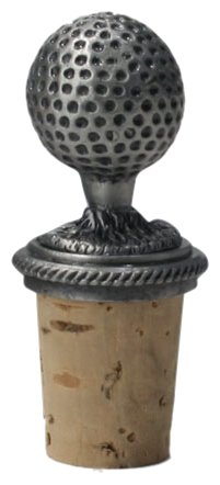 Golf Themed Metal Wine Stopper Golf Ball Great Gift NEW by Pro Active