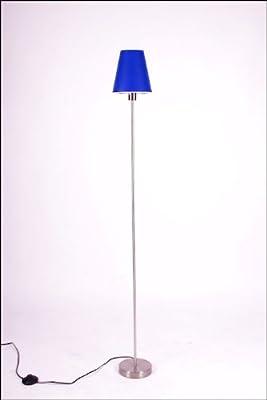 Stehlampe mit Lampenschirm Blau